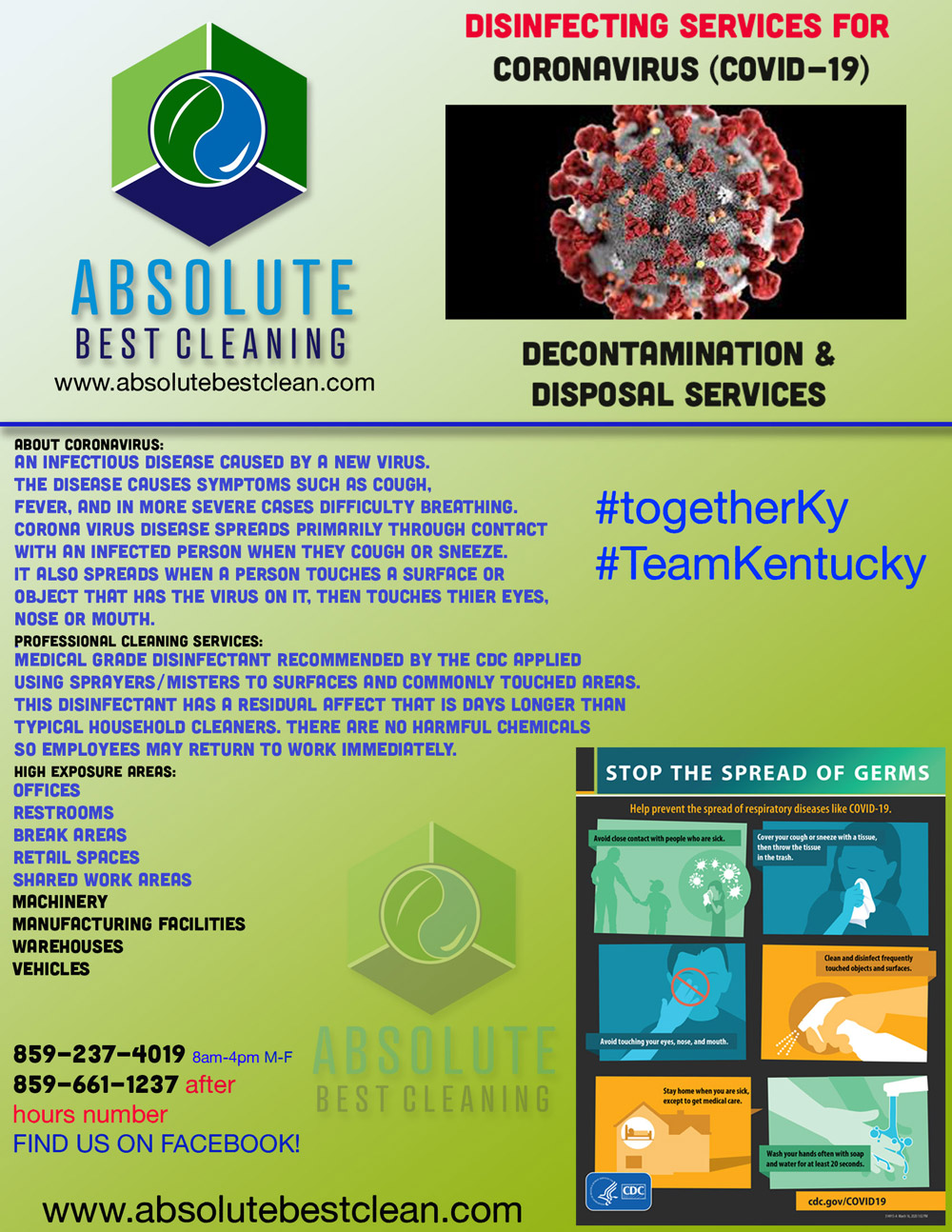 Kentucky Covid19 Cleaning